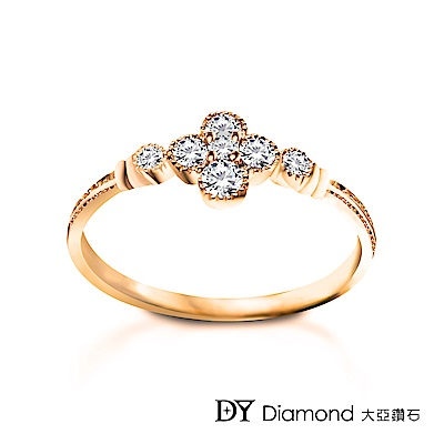 DY Diamond 大亞鑽石 L.Y.A輕珠寶 18K玫瑰金 花語鑽石線戒