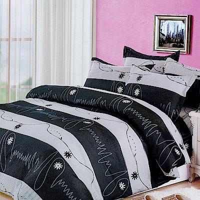 好夢寢具生活館- MIT頂級細緻絲柔棉超值被套床包單人三件組(流金歲月)