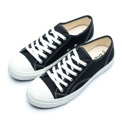 ARRIBA艾樂跑男鞋-餅乾帆布鞋 休閒鞋-黑/白(AB8085)