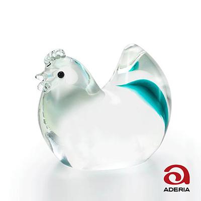 日本Aderia 手作玻璃幸運生肖擺飾-酉(雞)