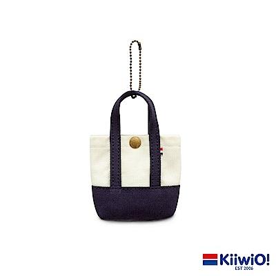 Kiiwi O! 經典造型迷你托特收納包 APRIL 藍/白