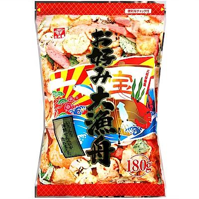 三河屋 大漁舟海鮮仙貝(180g)