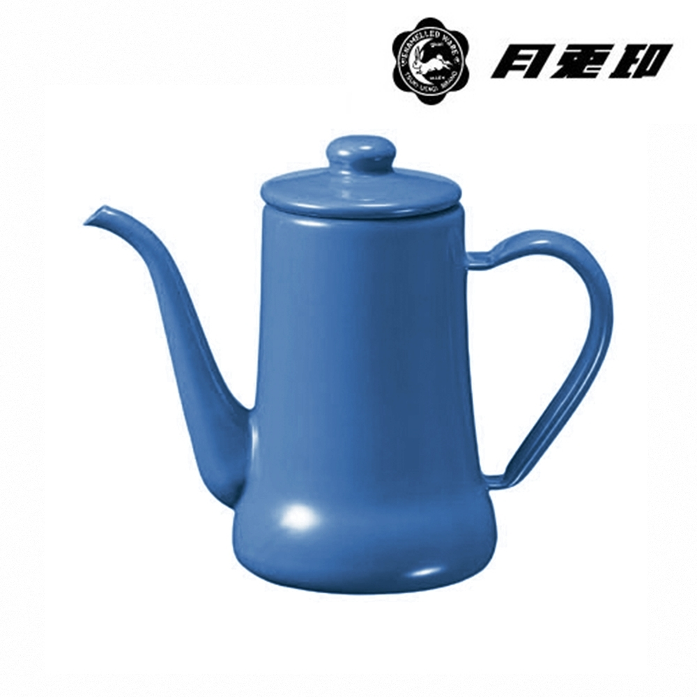 JIA Inc. 品家家品 月兔印-琺瑯手沖壺 0.7L-藍色