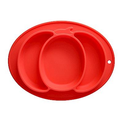 EXPECT兒童矽膠餐盤-南瓜款-紅色