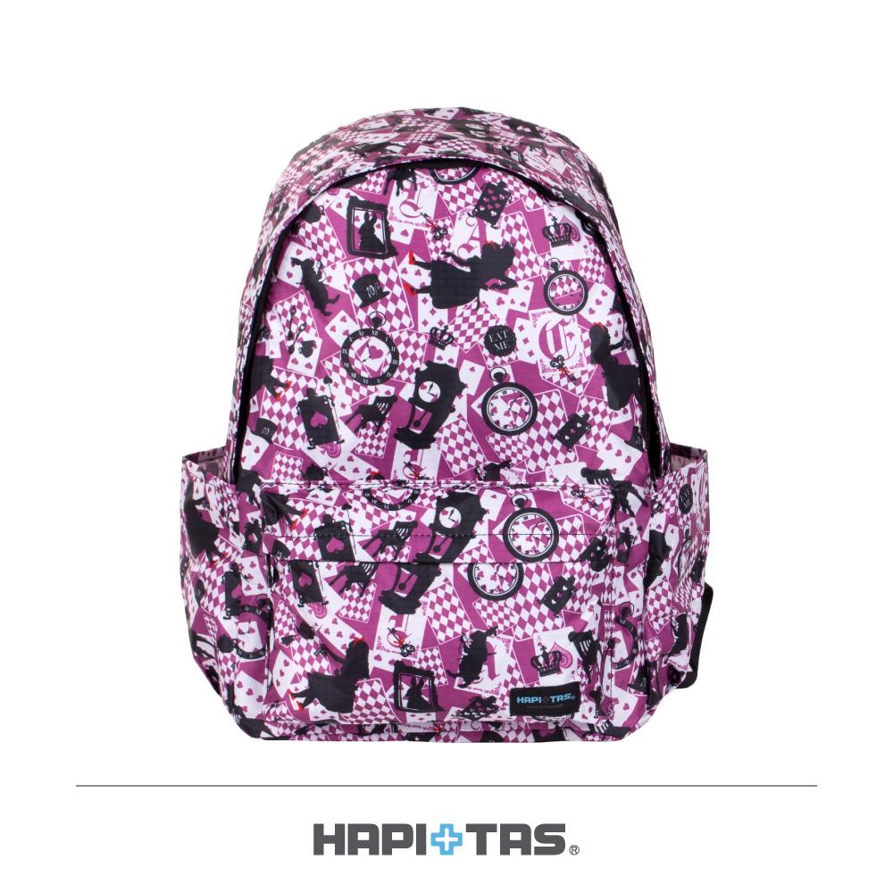 日本HAPI+TAS 防盜防潑水 摺疊後背包 新版粉色愛麗絲