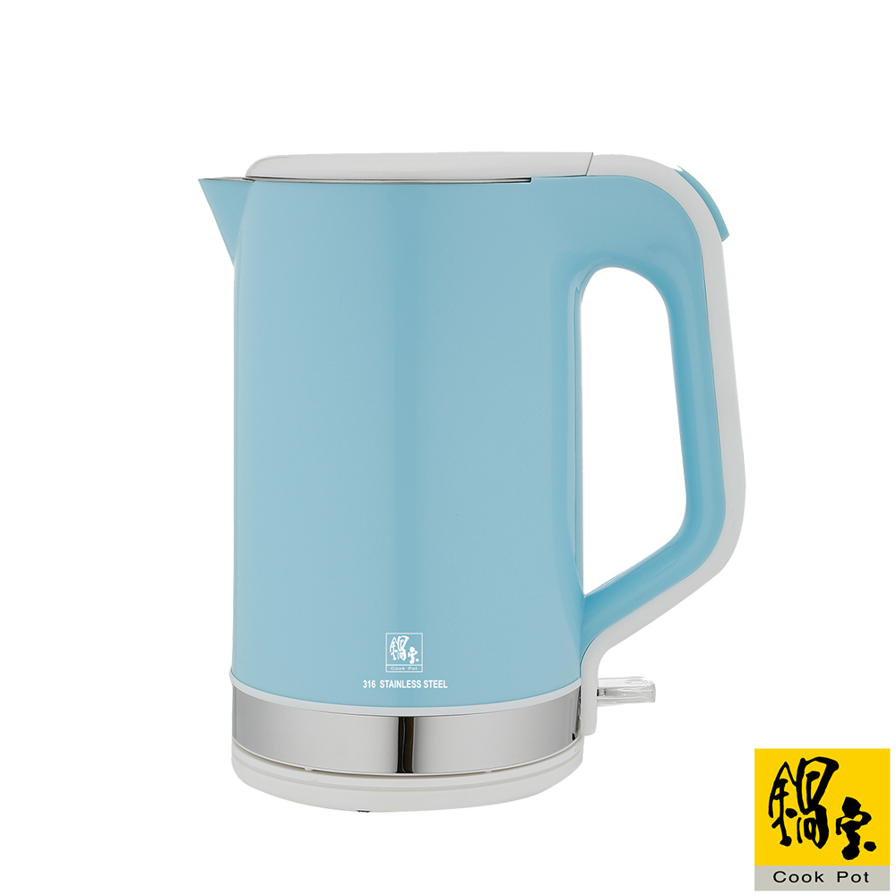 【鍋寶】雙層316快煮壺-1.8L 藍 KT-97181B