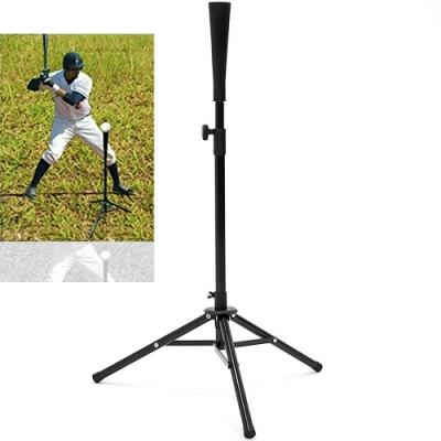 便攜式棒球打擊練習座(自主訓練揮棒壘球/折疊收納打擊練習器材/樂樂棒球壘球打擊座/擊打器T座三腳架)