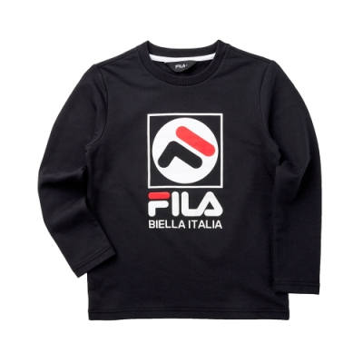 FILA KIDS 童長袖T恤-黑 1TET-8901-BK