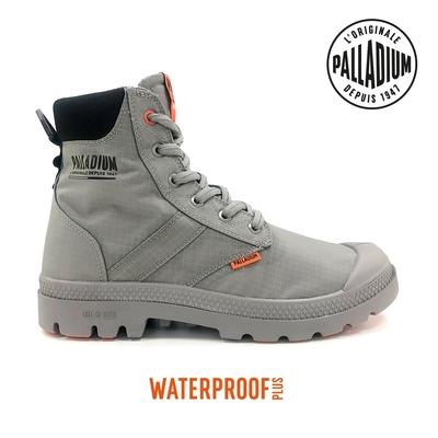 PALLADIUM PAMPA LITE+ SC VAPOR WP+輕量拉鍊防水靴-中性-灰
