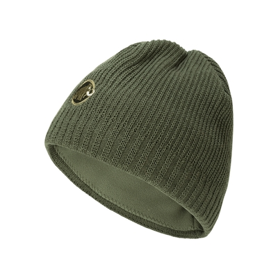 【Mammut】Sublime Beanie 刺繡LOGO保暖羊毛帽 綠鬣蜥  #1191-01542