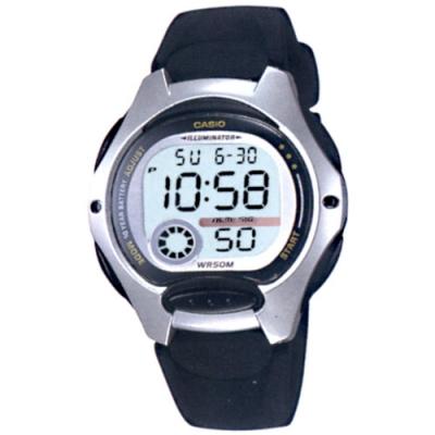 CASIO 超時空玩家電子運動錶-黑帶x銀框(LW-200-1A)/37.9mm