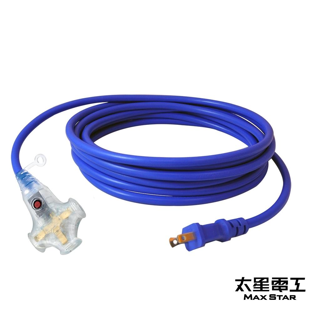 太星電工 2P 3插座附燈動力軟線15A/5米 OFA30205
