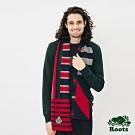 ROOTS配件- 周年紀念條紋長條圍巾-拚色