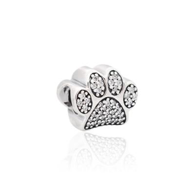 Pandora 潘朵拉 魅力鑲鋯爪印 純銀墜飾 串珠