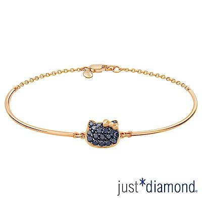 Just Diamond Hello Kitty黑鑽風潮18K玫瑰金系列 鑽石手鍊
