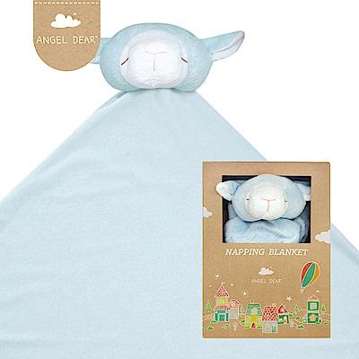 美國 Angel Dear 大頭動物嬰兒毛毯禮盒版 (藍色小羊)