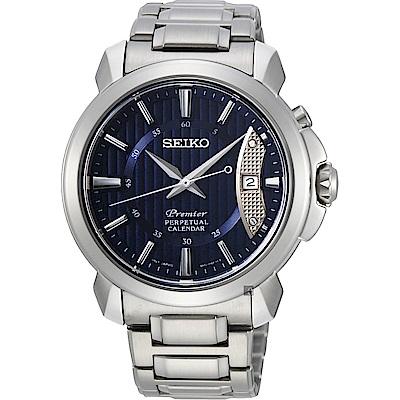 (無卡分期6期)SEIKO 精工 Premier 紳士萬年曆手錶 (SNQ157J1)