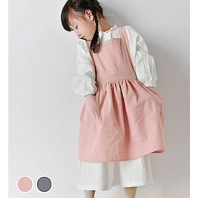 日創優品 小孩款棉麻圍裙(2色可選)