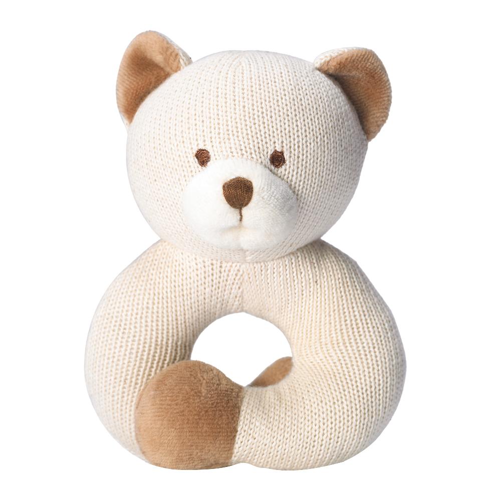 美國miYim有機棉 固齒器 手圈圈款-小熊