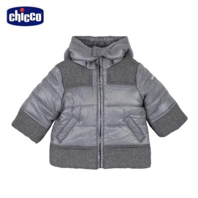 chicco- 浣熊學士-活動帽剪接舖棉外套