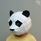 問創設計 DIY手作3D紙模型 頭套 面具系列 - 熊貓/貓熊面具 (幼幼款)