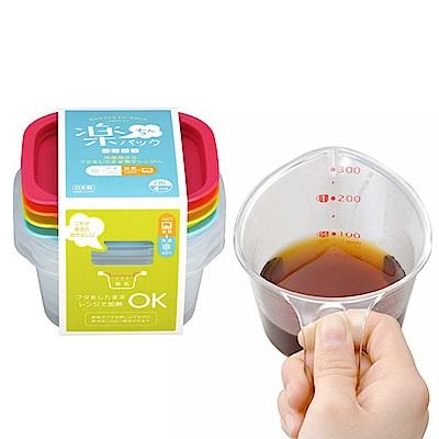 【特惠組】日本INOMATA四色270ml微波保鮮盒+300ml量杯