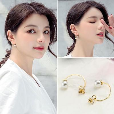 梨花HaNA 韓國水晶花卉朵朵綻開耳環