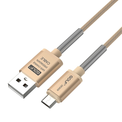 GOLF USB 轉 Micro USB 雷霆系列 尼龍網格傳輸線(1M)