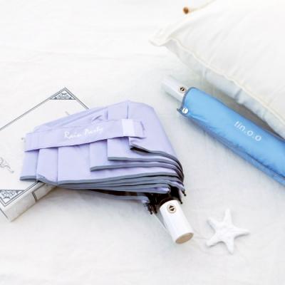好傘王 自動傘系_輕白限定晴雨兩用黑膠電光輕大傘(紫色)