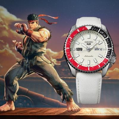 SEIKO 5 快打旋風Street Fighter V聯名腕錶-RYU隆(SRPF19K1)