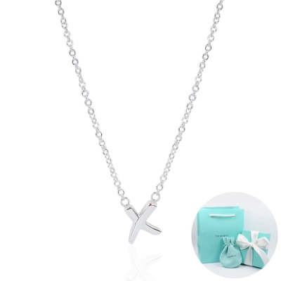 Tiffany&Co. Paloma Picasso x型吊墜 純銀項鍊(迷你)