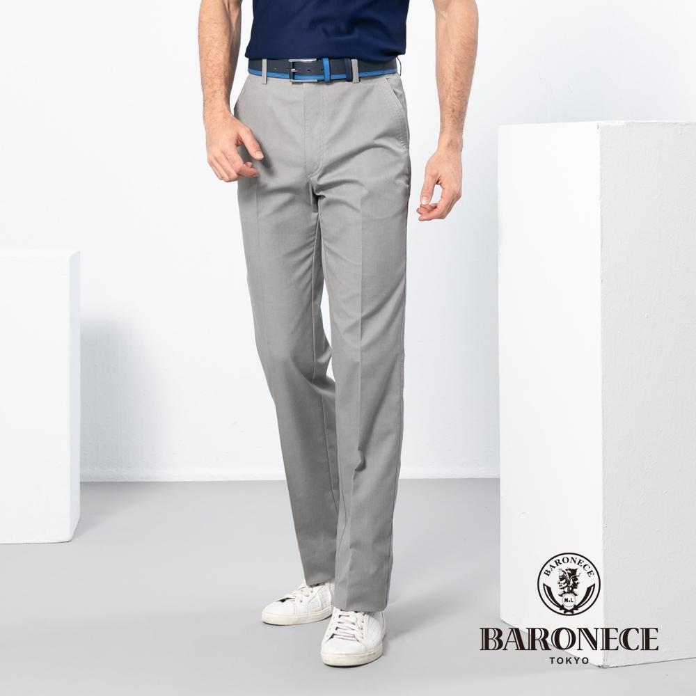 BARONECE 百諾禮士休閒商務  男裝 彈性雙色織紋平口休閒棉褲-褐卡其色(1188896-45)