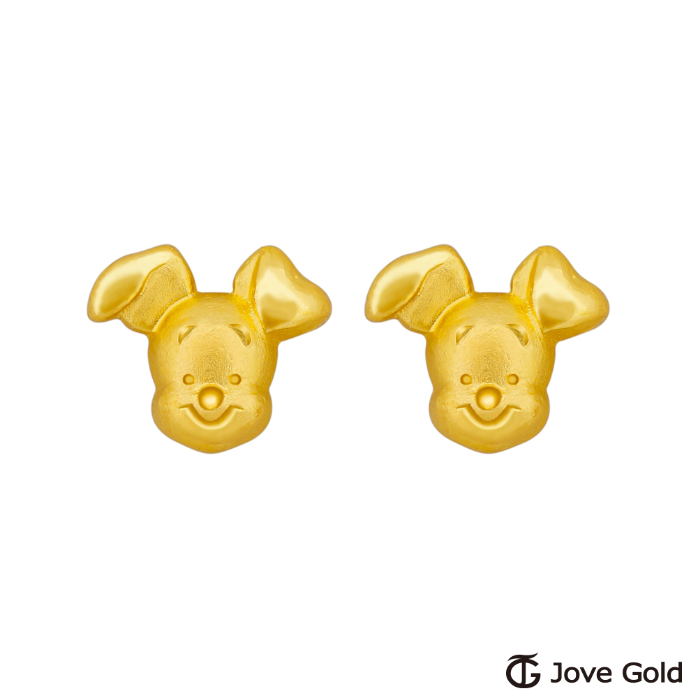 Disney迪士尼金飾 維尼系列-小豬黃金耳環