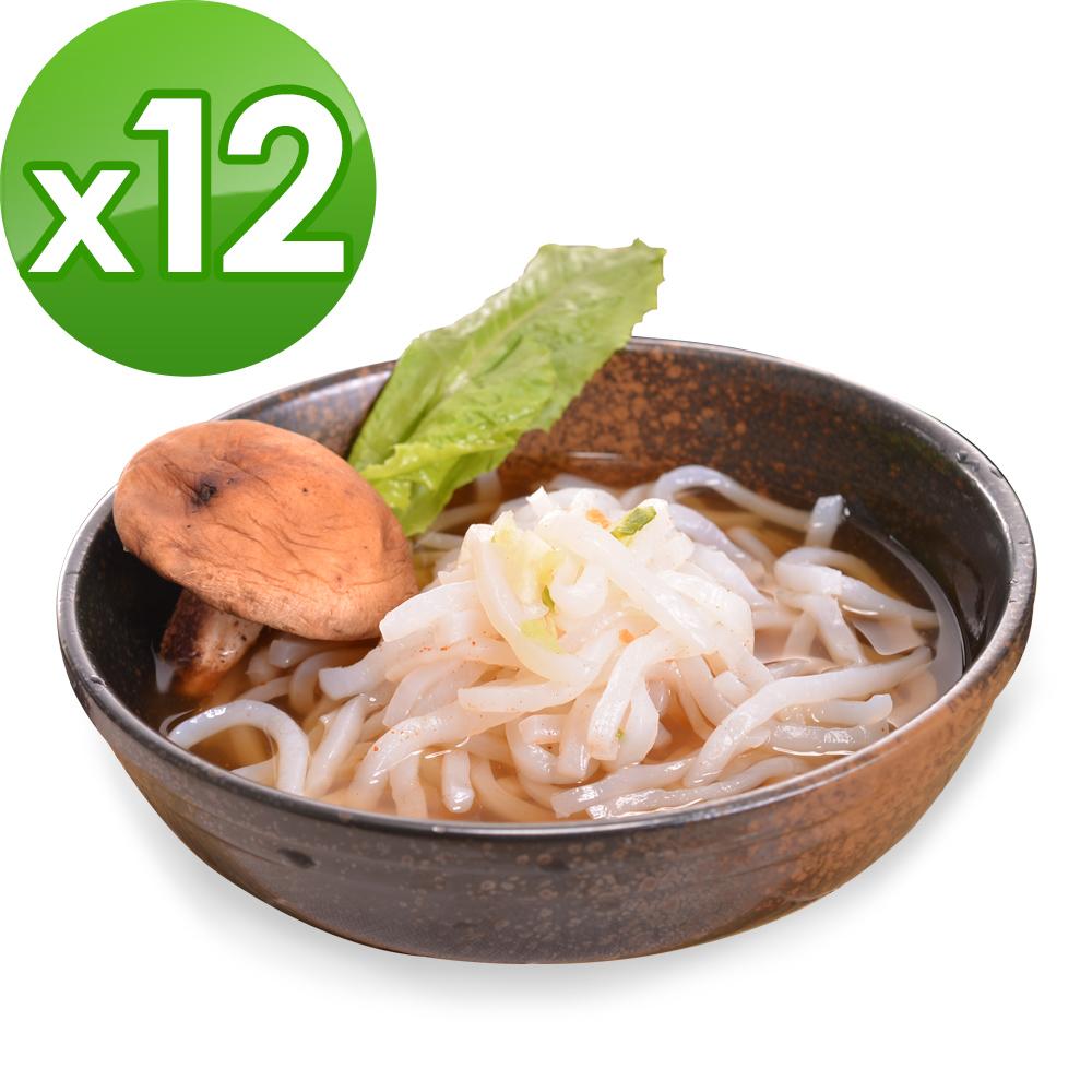樂活e棧 低卡蒟蒻麵 原味烏龍+濃湯(共12份)