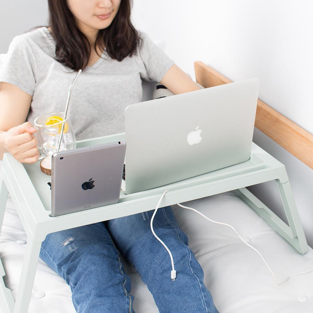 樂嫚妮 懶人桌/電腦桌/床上/多功能/折疊-5色-68X35X27.5cm