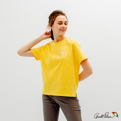 Arnold Palmer -女裝-方形短版大傘T恤-黃色