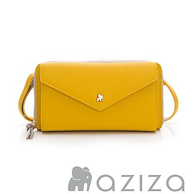 aziza CLARA拉鍊皮夾包-黃