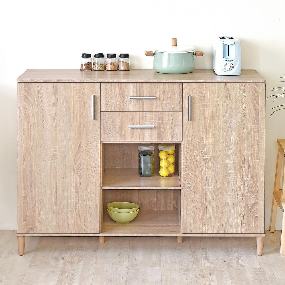 《HOPMA》DIY歐森巧收多功能廚房櫃/櫥櫃/收納櫃/置物櫃-寬119X深40X高87cm