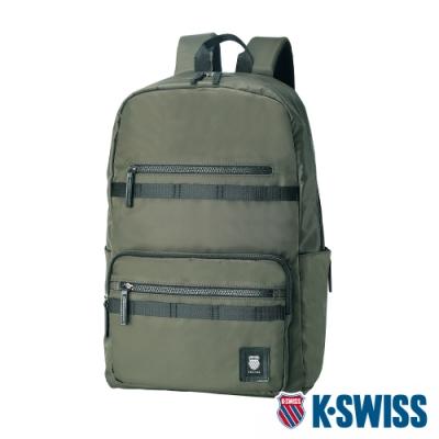 K-SWISS Heritage Backpack休閒後背包-軍綠