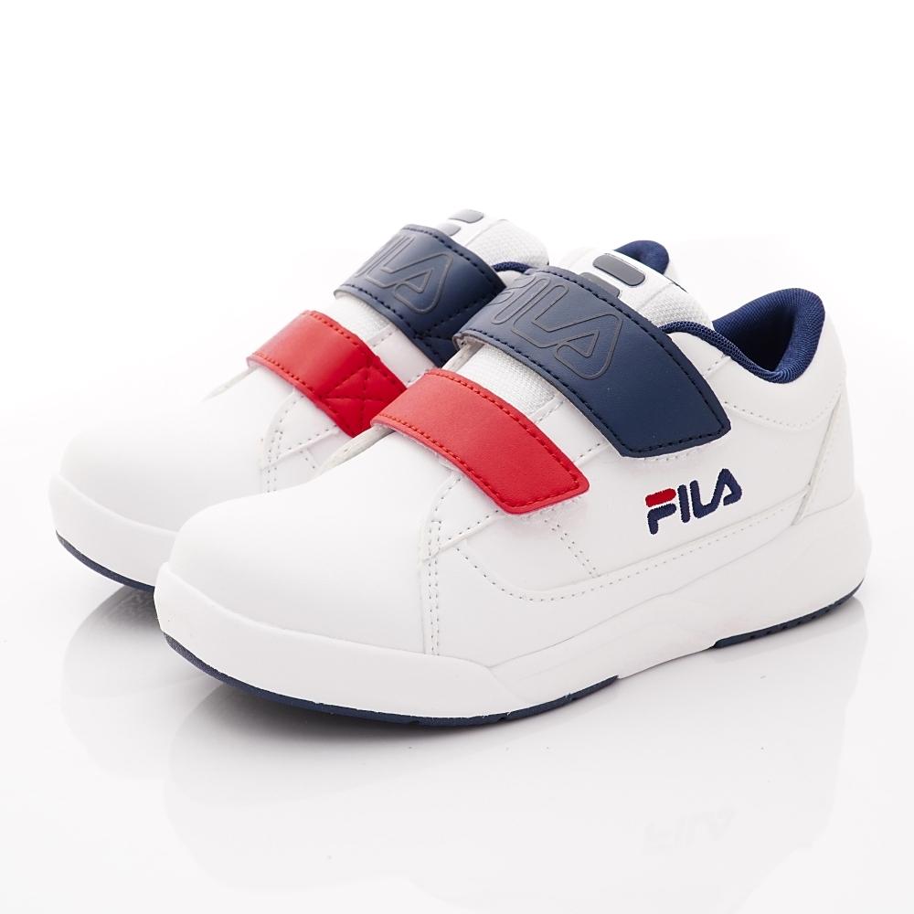 FILA頂級童鞋 義式簡約運動鞋款 FO02U-123藍白紅(中大童段)