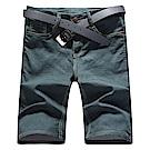 BuyGlasses 彈性皮標短褲五分牛仔褲