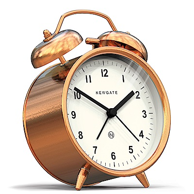 Newgate 英倫風格桌鐘-查理貝爾-紅銅-9.5cm