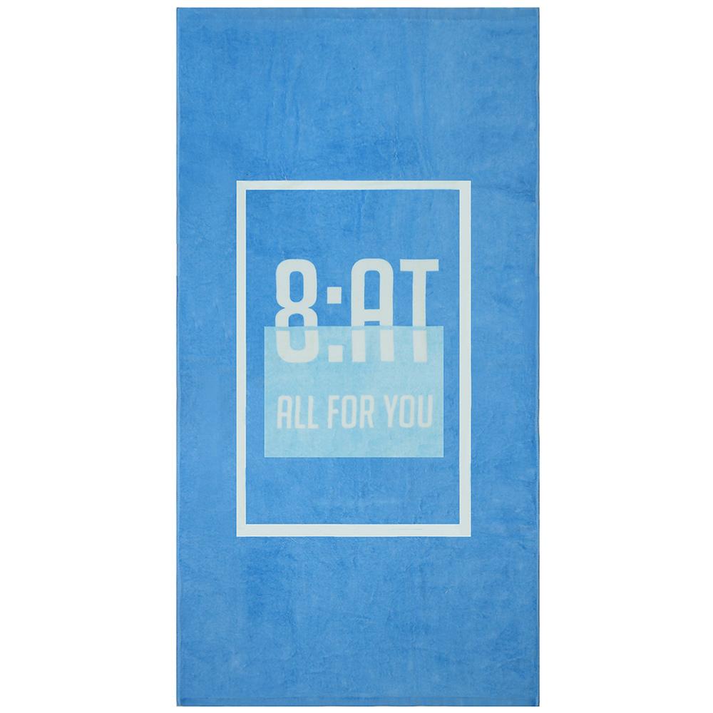 8:AT 棉絨印花大浴巾(北歐藍)
