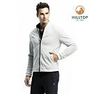 【hilltop山頂鳥】男款WS防風透氣保暖刷毛外套H22MX7淺灰