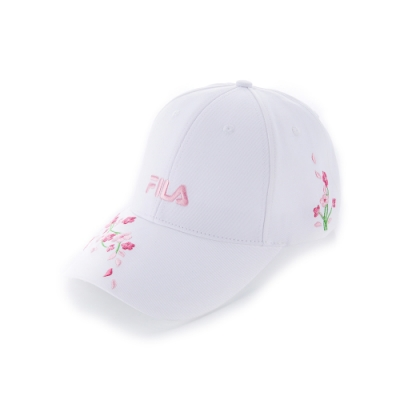 FILA 時尚LOGO帽-白 HTU-1200-WT
