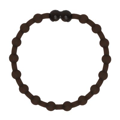 Pro Hair Tie 扣環髮圈單條組-深棕色