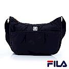FILA女性質感系斜側背包-經典黑