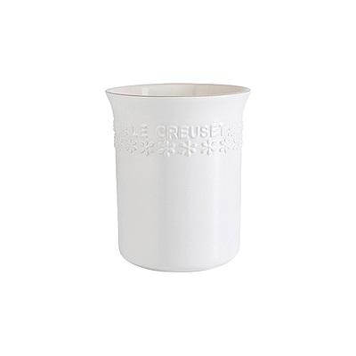 LE CREUSET 瓷器-器皿座1L (棉花白 縷空雕花)