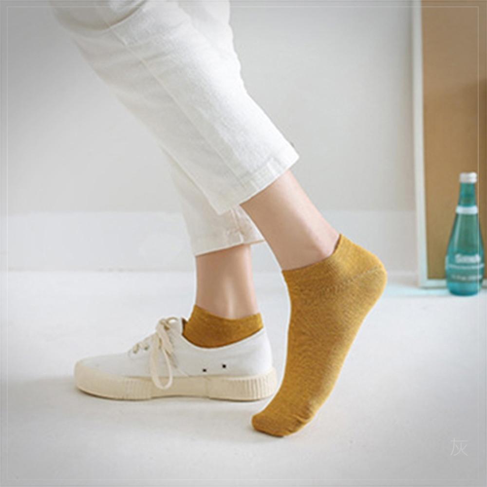 Secret Closet-素面隱形純棉短襪