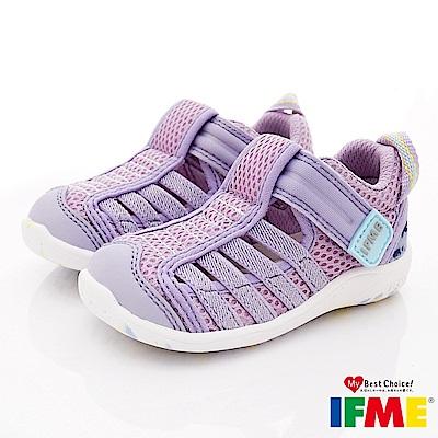 IFME健康機能鞋 輕量透氣排水款 NI00702紫(寶寶段)